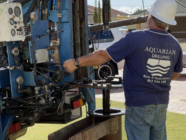 Drilling new bore Alexander Heights