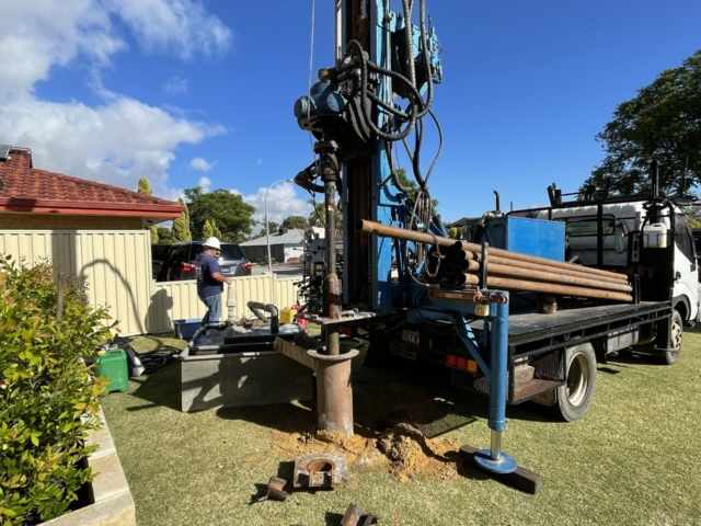 Aquarian Drilling Perth Water Bores & Pumps Drilling new water bore in Manning