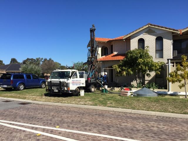 Drilling new water bore in Dianella
