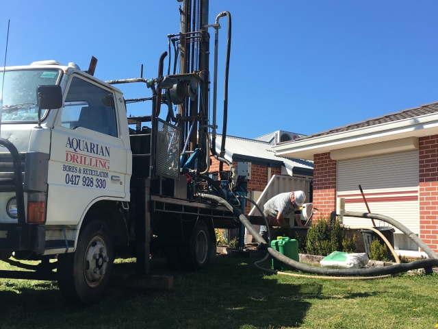 Drilling new water bore in Ellenbrook