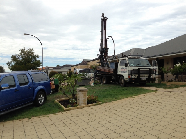 Drilling new water bore in Landsdale