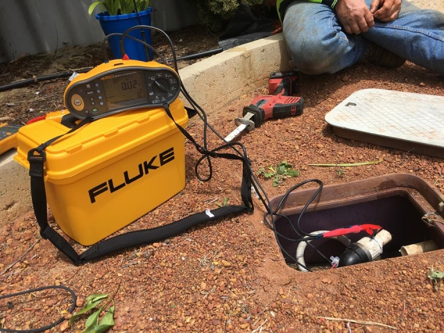 Megger testing pump fused bore pump in Stratton