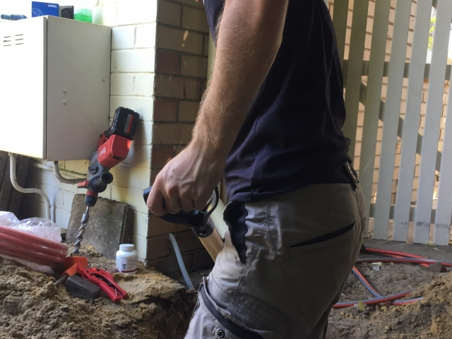 Trenching for new cable run Rewiring well Dianella