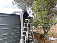 Water Tank 275000 litres for a low flow rural bore