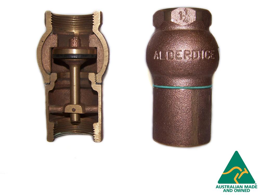 Brass Australian Made Alderdice Check valve 40 mm