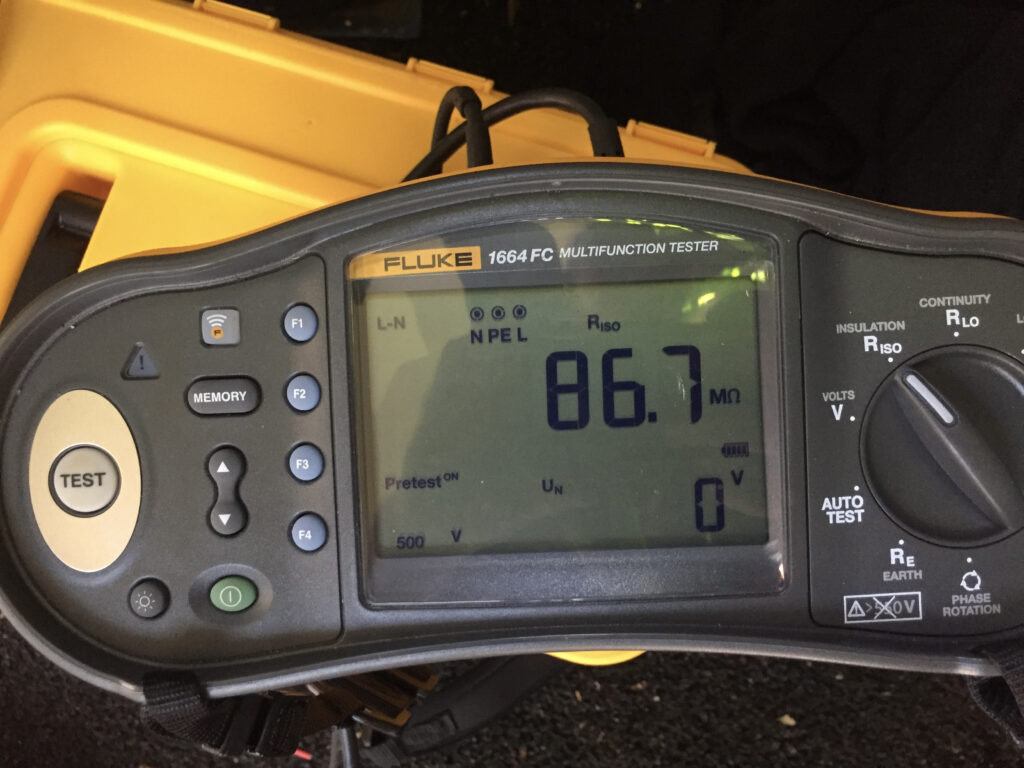 Fluke Meter for testing Reticulation Wiring