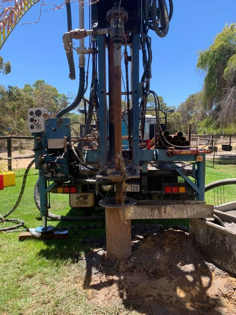 Drilling rig new bore Wanneroo