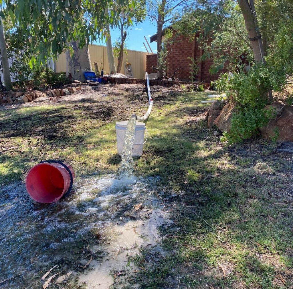 water pumping from rebore Noranda